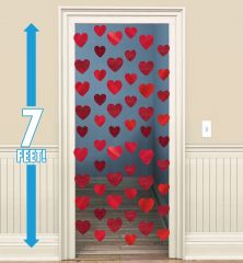 Heart Foil String Decorations (Pack of 6)
