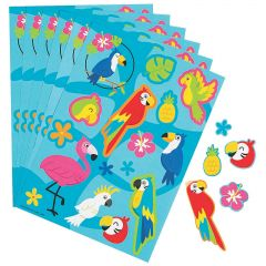 Tropical Birds Stickers (24 Sheets)