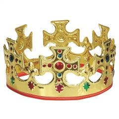 Deluxe Plush Adults Royal Kings Crown