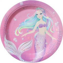 Holographic Mermaid Large Paper Plates (Pack of 8)
