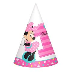 Minnie Mouse Fun To Be One Party Hats (Pack of 8)