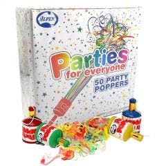 Party Poppers (Box of 50)