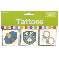 Police Party Tattoos (Pack of 36)