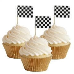 Chequered Flag Cupcake Picks (Pack of 50)