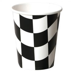Black and White Checkered Paper Cups (Pack of 8)
