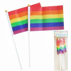 Rainbow Flags Small (Pack of 8)