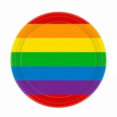 Rainbow Small Paper Plates (Pack of 8)