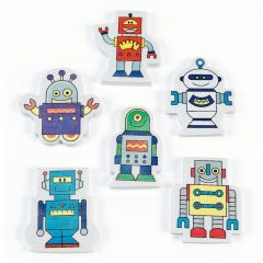 Robot Erasers (Pack of 24)