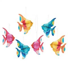Tropical Fish Tissue Decorations (Pack of 6)