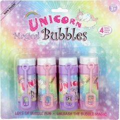 Unicorn Magical Bubbles (Pack of 4)