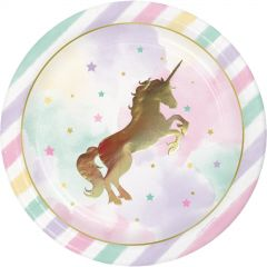 Unicorn Sparkle Large Paper Plates (Pack of 8)