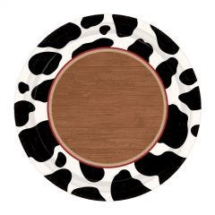 Rodeo Western Small Paper Plates (Pack of 8)