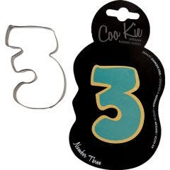 Coo Kie Number 3 Cookie Cutter