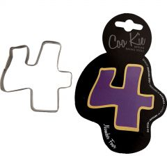 Coo Kie Number 4 Cookie Cutter