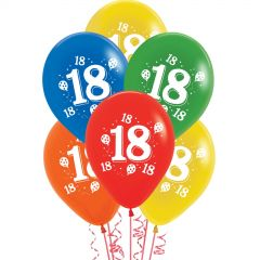 Assorted 18th Party Balloons (Pack of 10)