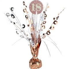 Prismatic Rose Gold and White 18th Birthday Spray Centrepiece