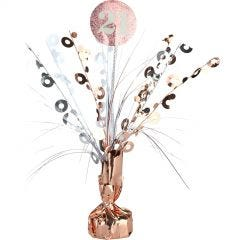 Prismatic Rose Gold and White 21st Birthday Spray Centrepiece