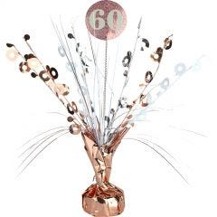 Prismatic Rose Gold and White 60th Birthday Spray Centrepiece