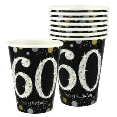 Sparkling Celebration 60th Birthday Paper Cups (Pack of 8)