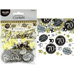 Sparkling Celebration 70th Birthday Confetti/Table Scatters