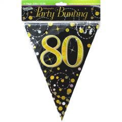 Happy 80th Birthday Jointed Banner