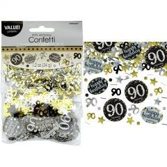 Sparkling Celebration 90th Birthday Confetti/Table Scatters