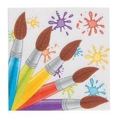 Little Artist Party Small Paper Napkins (Pack of 16)