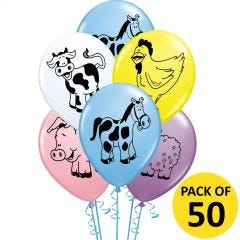 Farm Animals Balloons (Pack of 12)