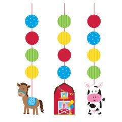 Farmhouse Fun Hanging Decorations (Pack of 3)