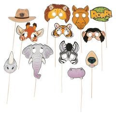 Zoo Animal Photo Booth Prop Set (Pack of 12)