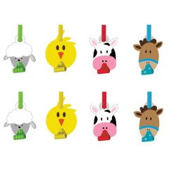 Farmhouse Fun Party Blowers (Pack of 8)