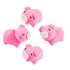 Mini Pig Erasers (Pack of 12)