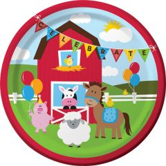 Farmhouse Fun Large Paper Plates (Pack of 8)