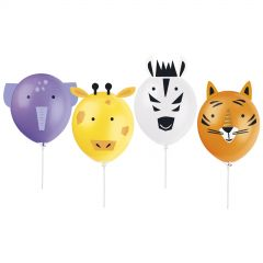 Jungle Animal Make Your Own Balloon Kit (Pack of 4)