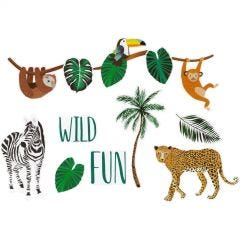 Wild Jungle Cutout Wall Decorations (Pack of 12)