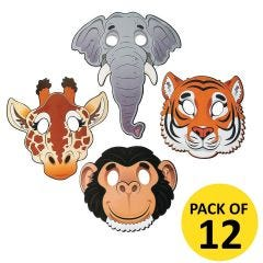 Zoo Animal Masks (Pack of 12)