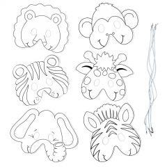 Zoo Animal Colour Your Own Masks (Pack of 12)