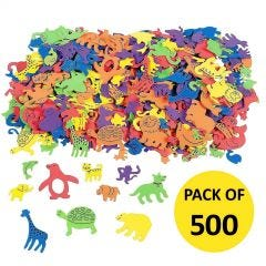 Assorted Animals Shapes Foam Stickers (Pack of 500)