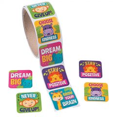 Jungle Motivational Stickers (Roll of 100)
