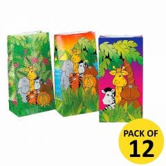 Animal Jungle Lolly/Treat Bags (Pack of 8)