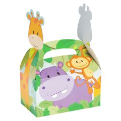 Zoo Animals Favour Boxes (Pack of 12)
