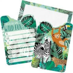 Wild Jungle Party Invitations (Pack of 8)