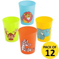 Zoo Animals Paper Cups (Pack of 8)