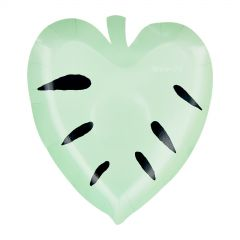 Pastel Green Leaf Small Paper Plates - Pack of 8