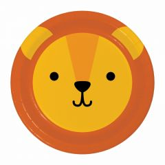 Zoo Animals Large Paper Plates (Pack of 8)