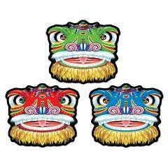 Chinese Dragon Cutout Decorations (Pack of 3)