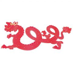 Chinese New Year Dragon Jointed Cardboard Cutout 182cm