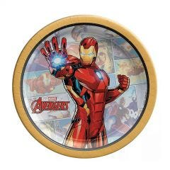 Avengers Marvel Powers Unite Iron Man Small Paper Plates (Pack of 8)