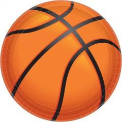 Nothin' But Net Basketball Large Paper Plates (Pack of 18)