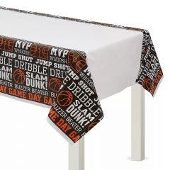 Nothin' But Net Basketball Plastic Tablecloth